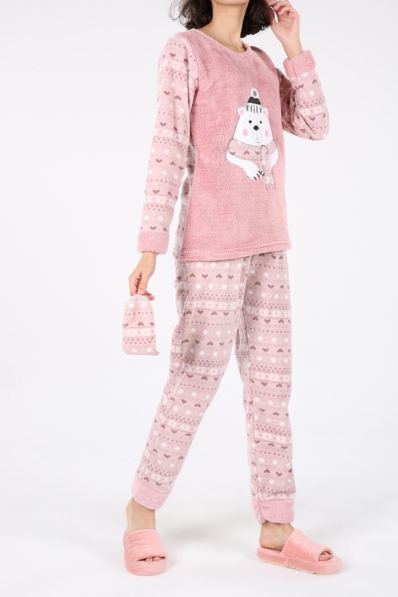 %100 Pamuk Üçlü Pijama Takımı