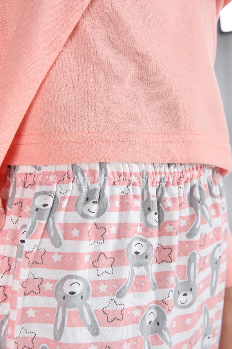 %100 Pamuklu Tavşan Baskılı Pijama Takımı