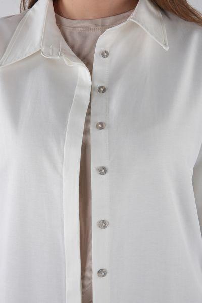 Patlı Basıc Gömlek Tunik