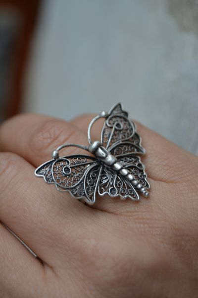 Artbutika Kelebek Yüzük