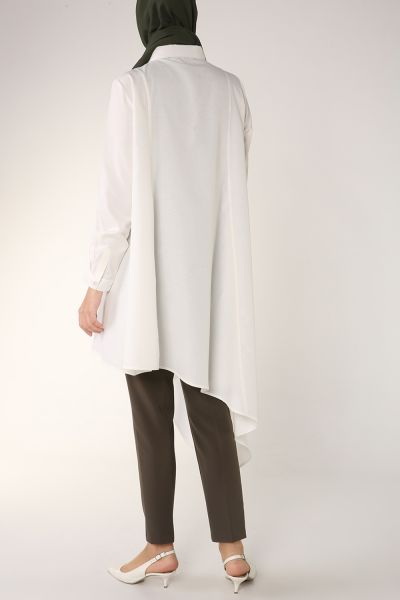 Asimetrik Uzun Gömlek Tunik