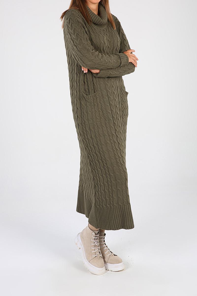 Balıkçı Yaka Cepli Elbise