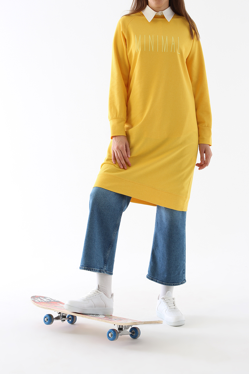Baskılı Basic Sweat Tunik