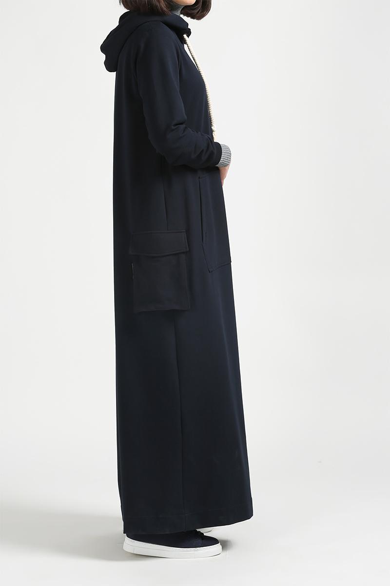 Baskılı Cep Detaylı Elbise