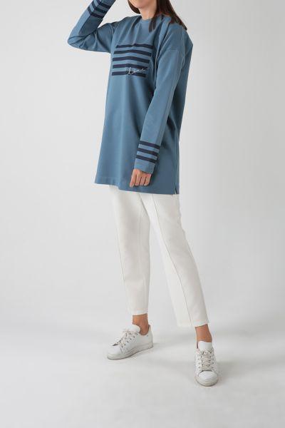 Pamuklu Baskılı Sweatshirt