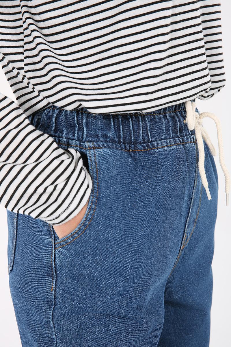 Bel Lastikli Denim Pantolon