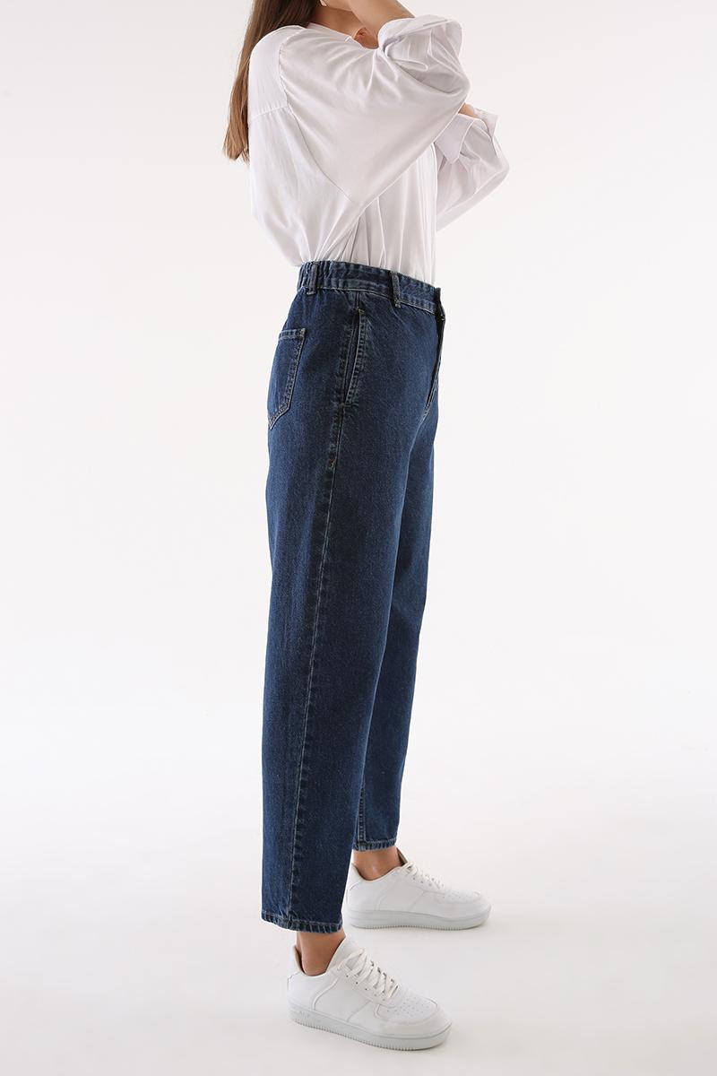 Bel Lastikli Mom Pantolon