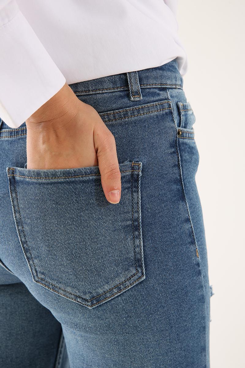 Bol Paça Denim Pantolon