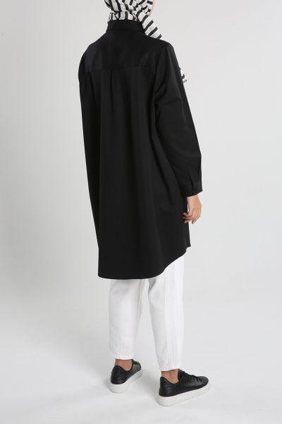 Büyük Beden Basıc Gömlek Tunik
