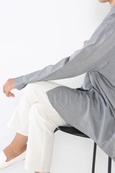 Büyük Beden Gizli Patlı Gömlek Tunik
