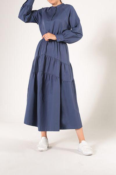 Büzgülü Patlı Kat Kat Elbise