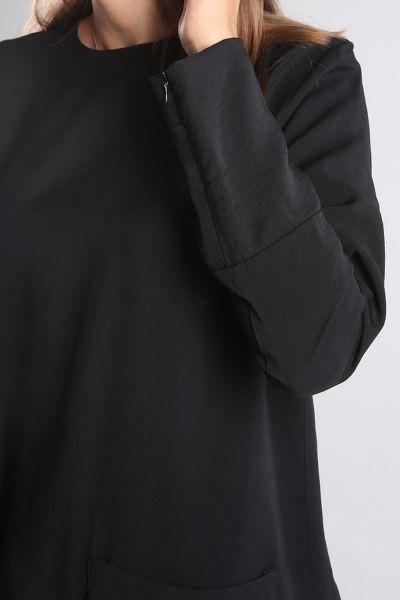 Viskon Etek Detaylı Gizli Fermuarlı Tunik