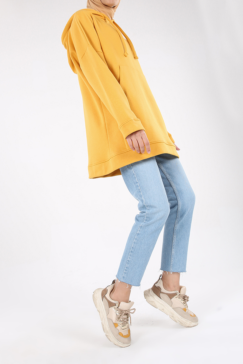 Cepli Kapüşonlu Salaş Sweatshirt