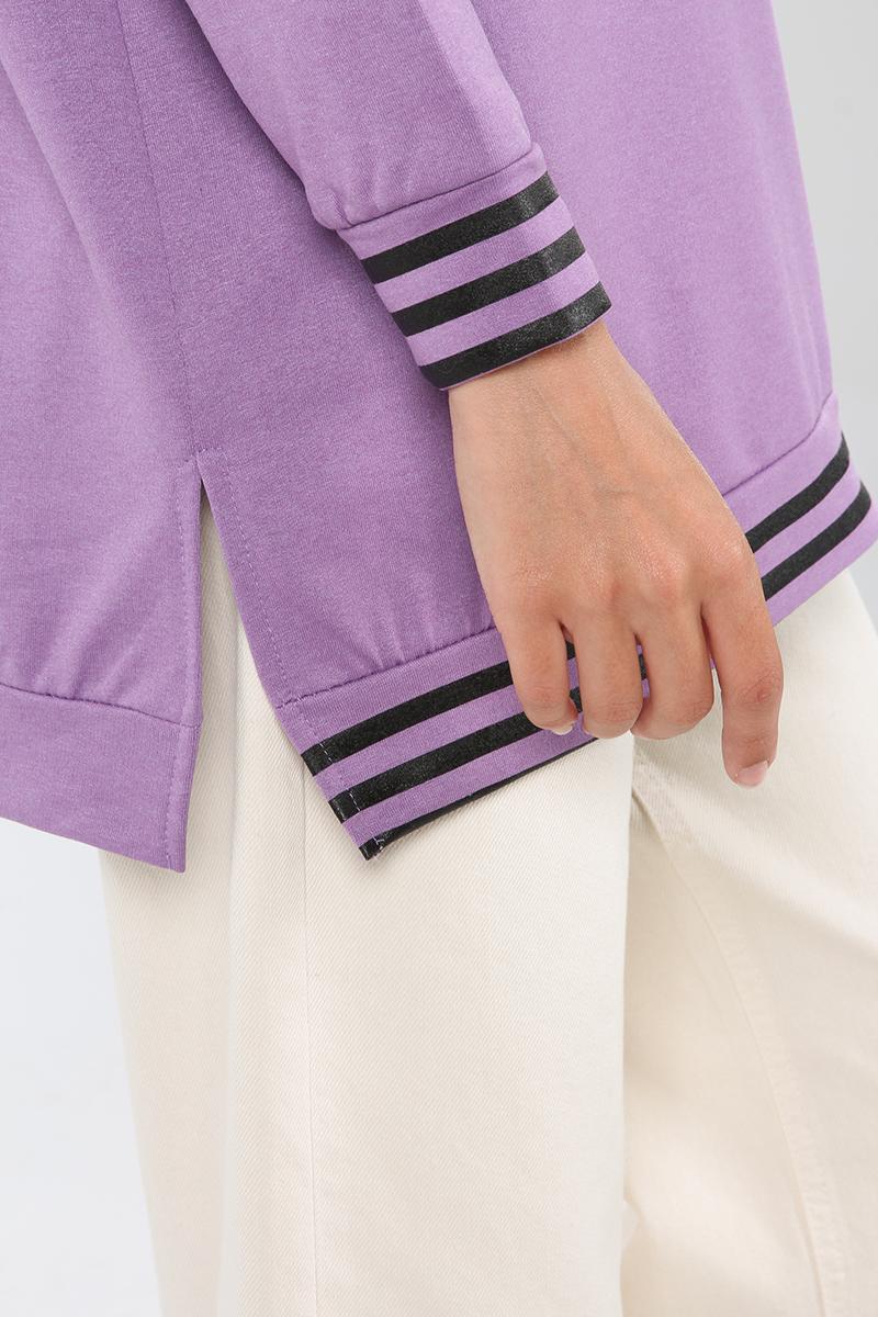 Çizgi Baskılı Sweatshirt