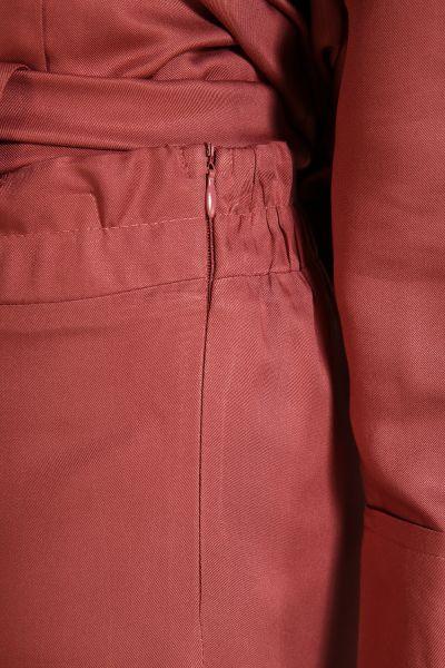 Yanlardan Bağlamalı Pantolonlu İkili Takım