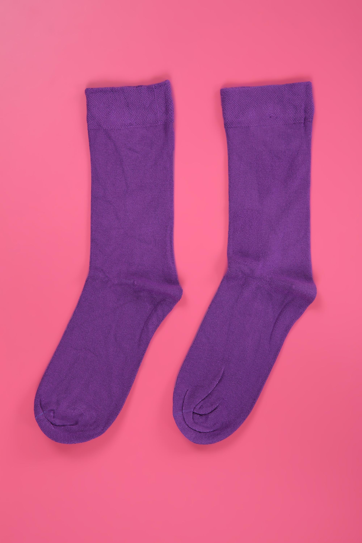 Düz Renk Bambu Çorap