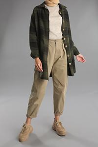 Oduncu Düğmeli Cepli Gömlek Tunik