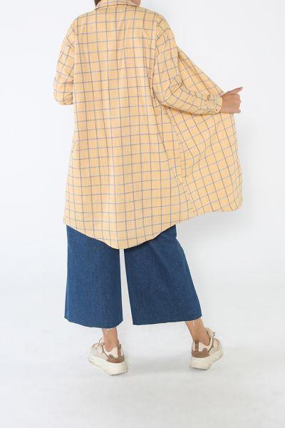 Rahat Kalıp Ekose Gömlek Tunik