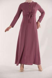 Önden Bağcıklı Patlı Elbise