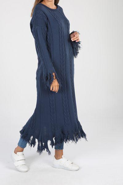 Eteği Saçaklı Uzun Tunik