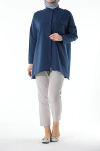 Fermuarlı Bluz