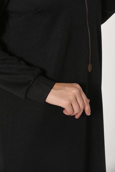 Fermuarlı Örme Tunik