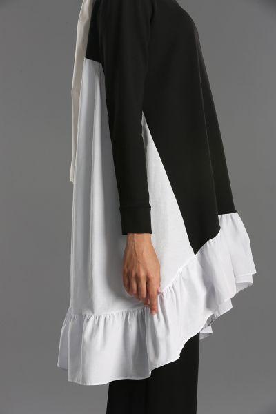 Fırfırlı Garnili Pantolonlu İkili Takım