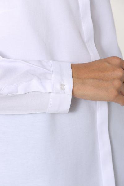 Gizli Patlı Düğmeli Kısa Gömlek