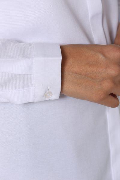 Gizli Patlı Kısa Düğmeli Gömlek