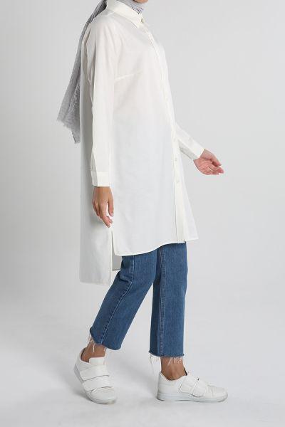 Düğmeli Gömlek Tunik