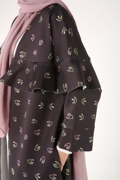 HANIEL Önü Açık Desenli Kimono