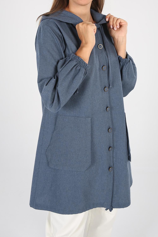 Kapüşonlu Cepli Gömlek Tunik