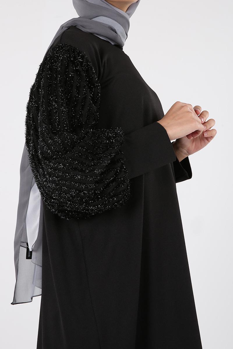 Kolları Simli Sakal Şeritli Tunik