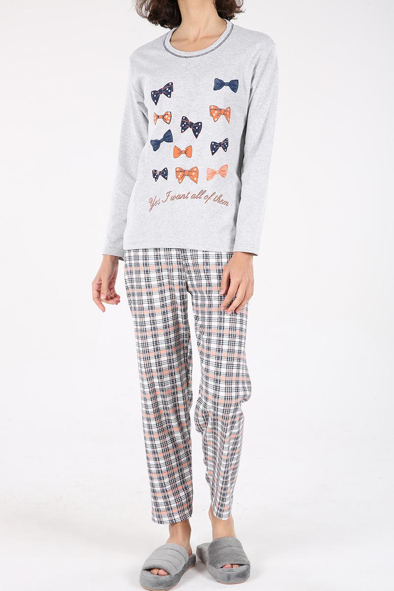 Kurdele Baskılı Pijama Takımı