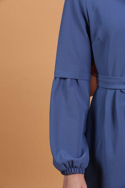 Kol Lastikli Kuşaklı Elbise
