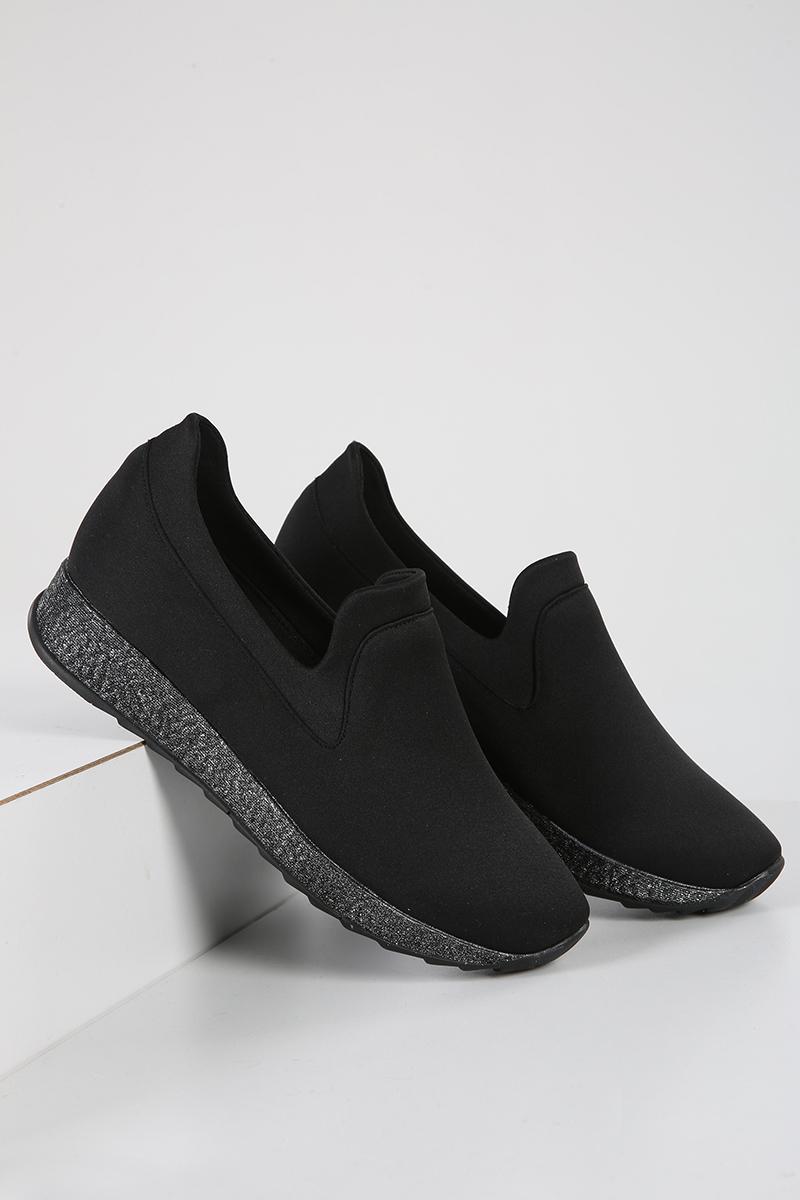 Neopren Kumaş Simli Günlük Ayakkabı