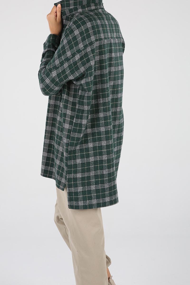 Cepli Oduncu Ekoseli Gömlek Tunik