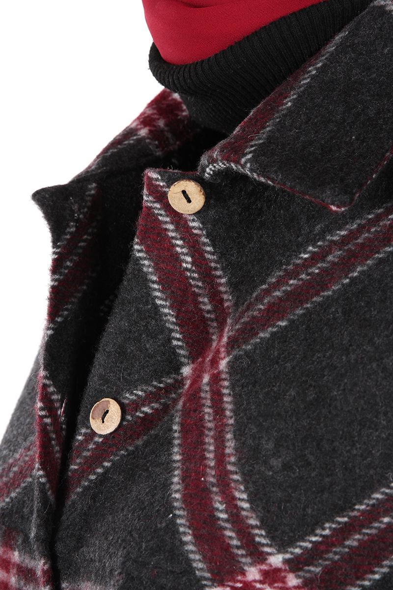 Oduncu Ekoseli Düğmeli Gömlek Tunik