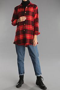 Oduncu Eteği Püsküllü Düğmeli Gömlek Tunik