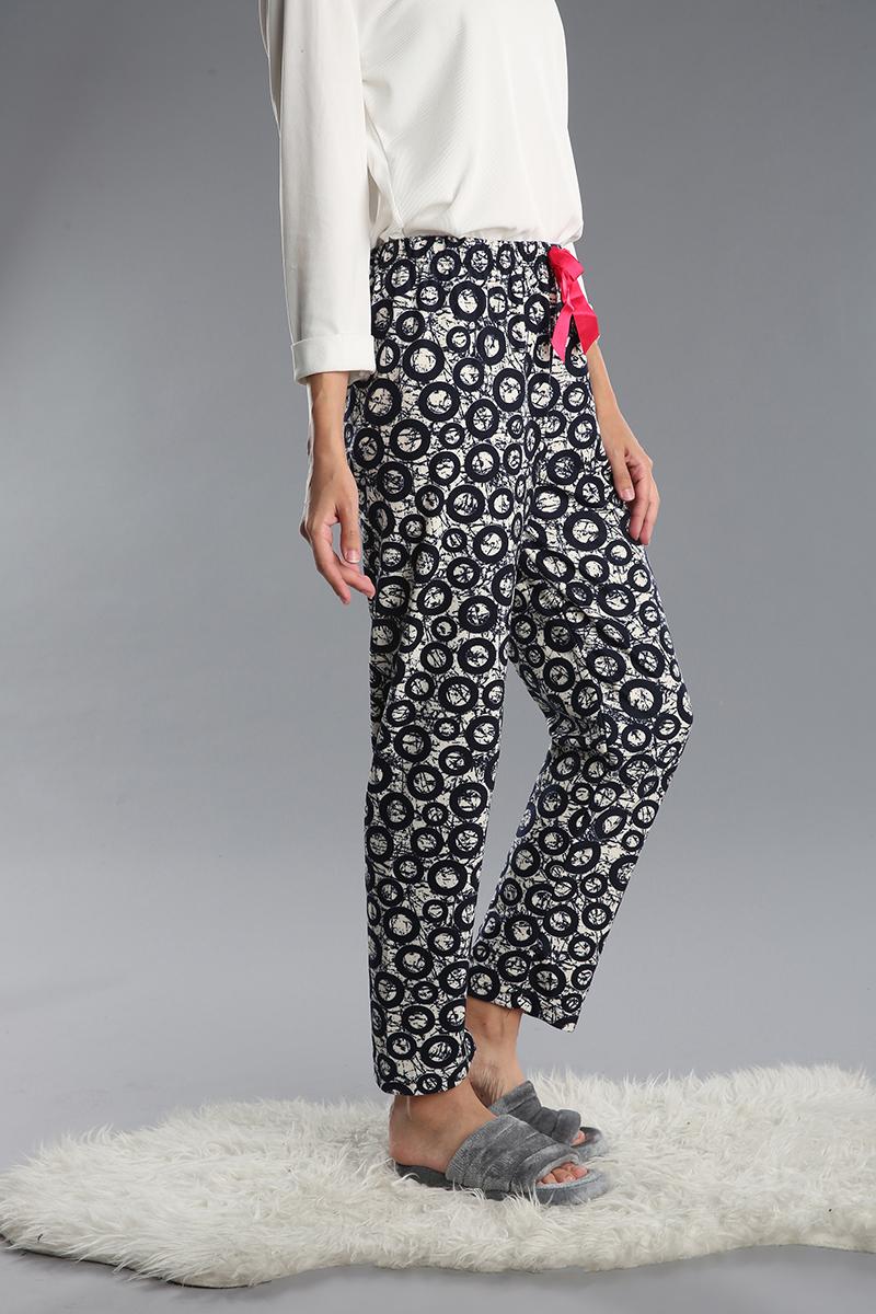 Pamuklu Desenli Pijama Altı