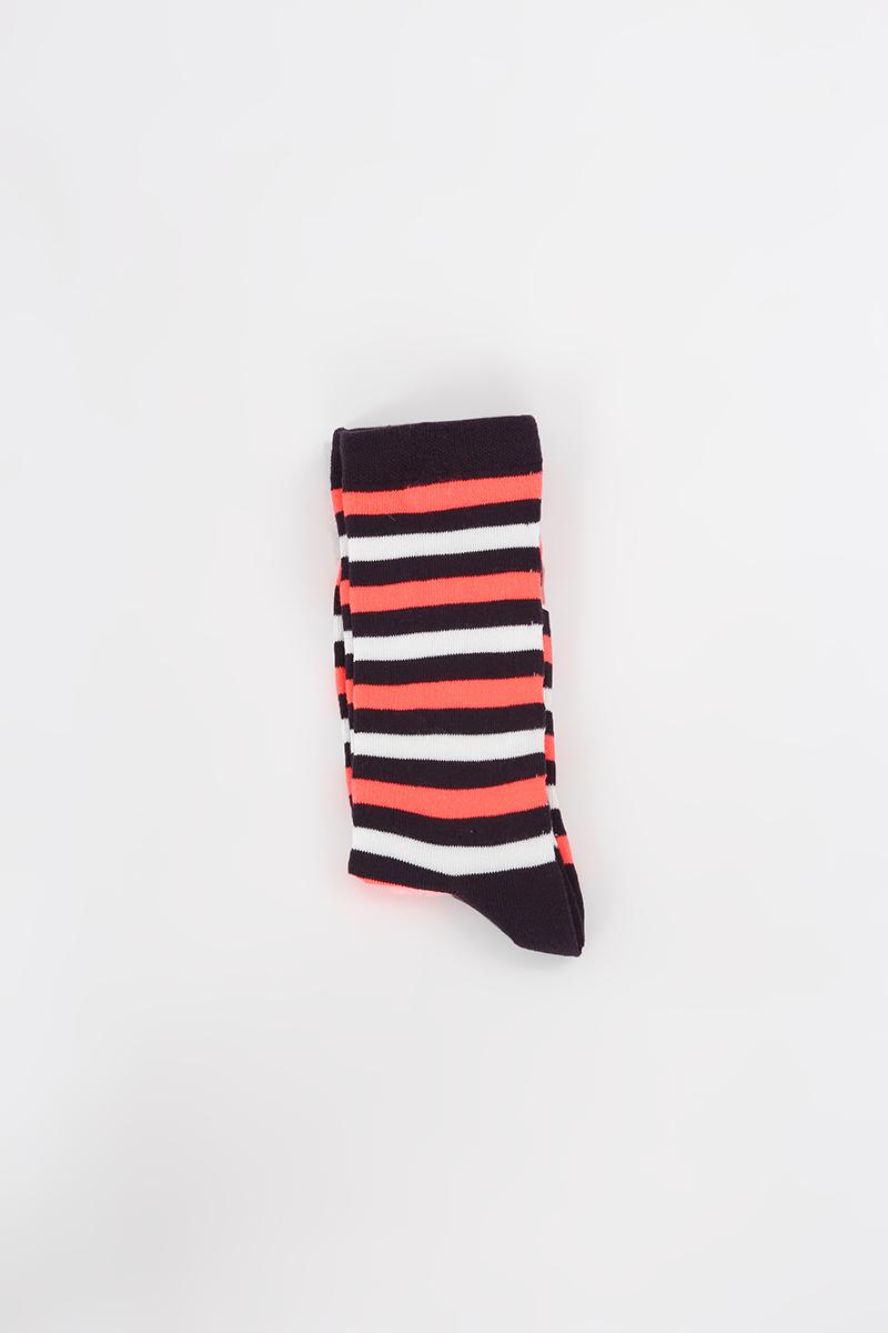 Pamuklu Dikişsiz Soft Yıkamalı Çizgili Çorap