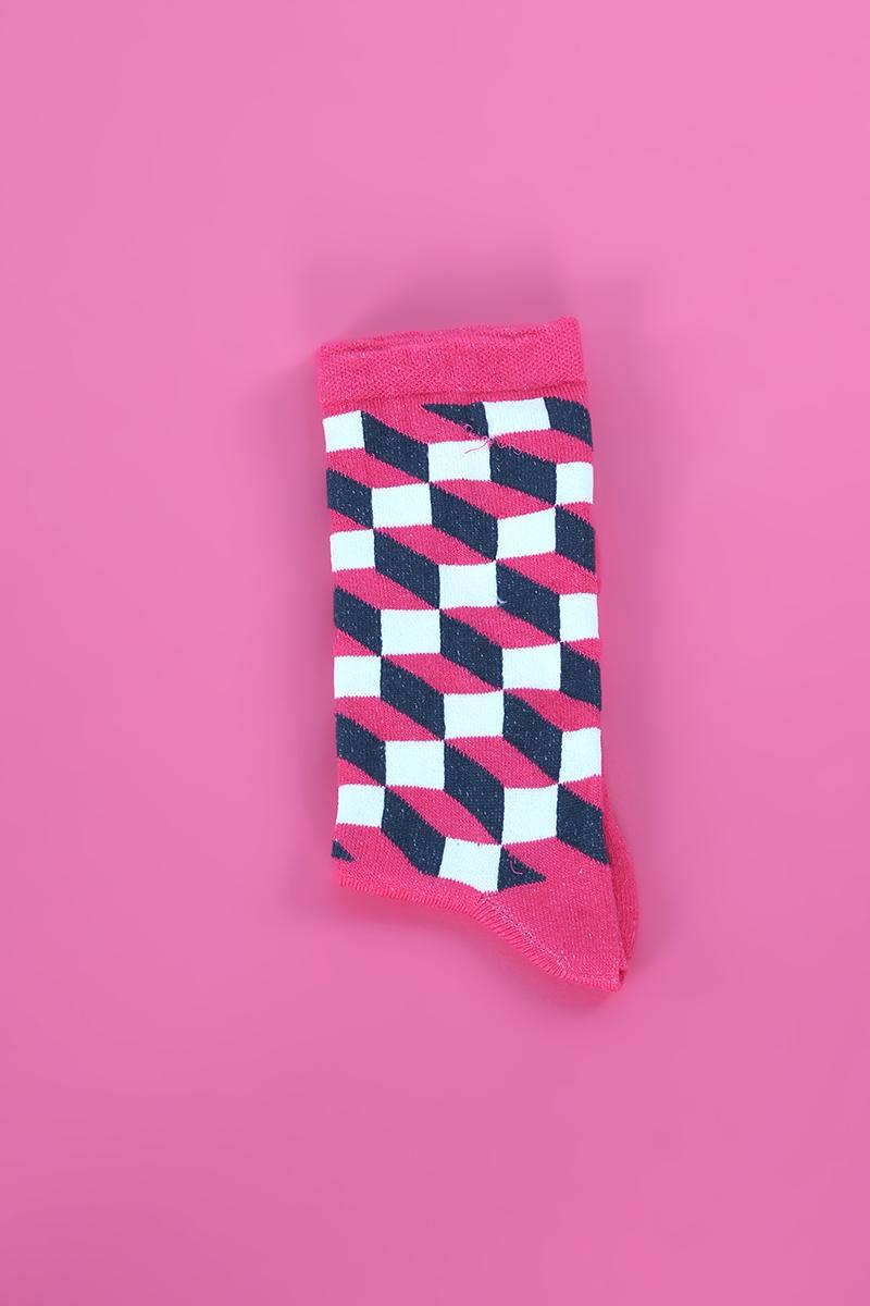 Pamuklu Dikişsiz Soft Yıkamalı Desenli Çorap