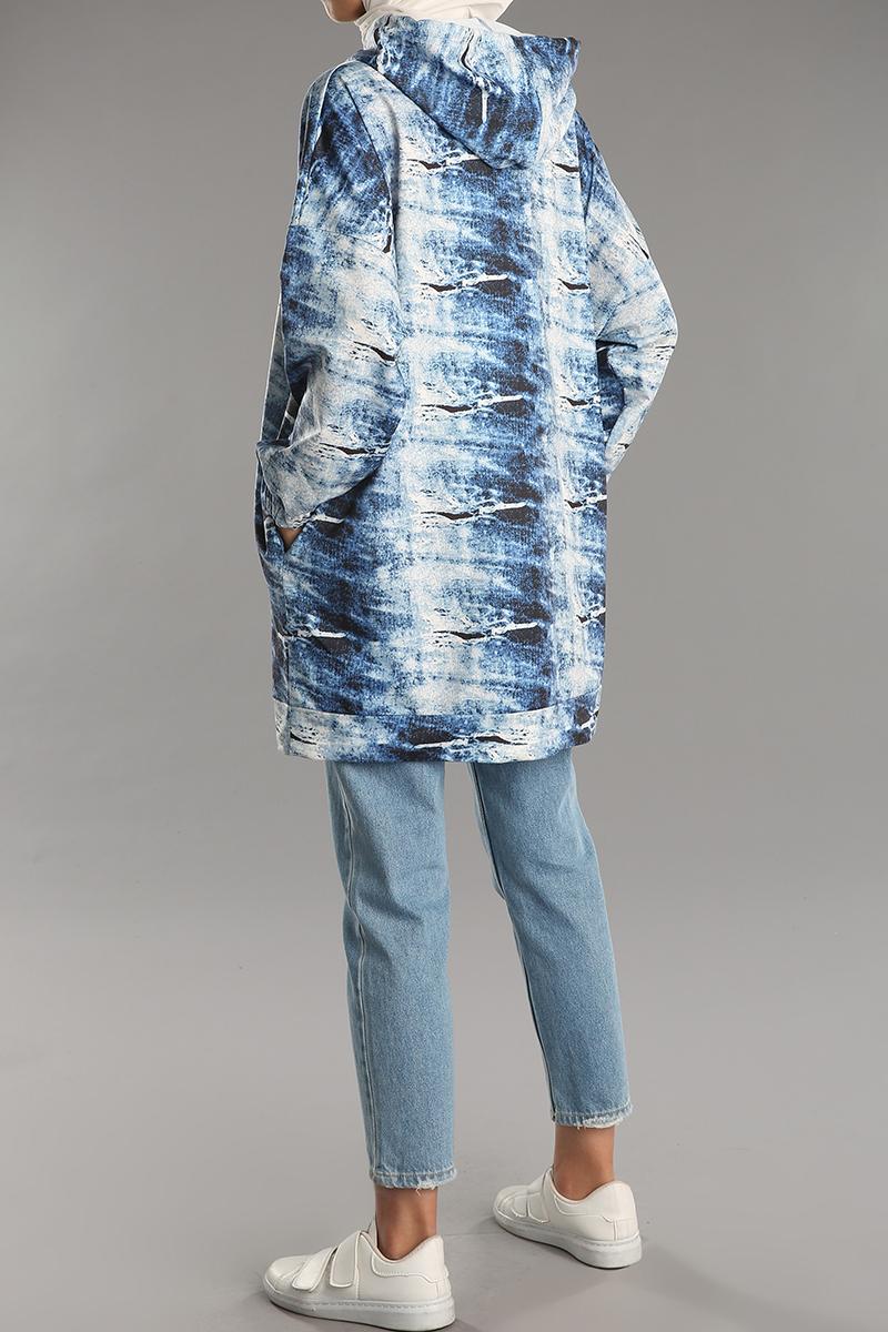 Pamuklu Kapüşonlu Sweat Tunik
