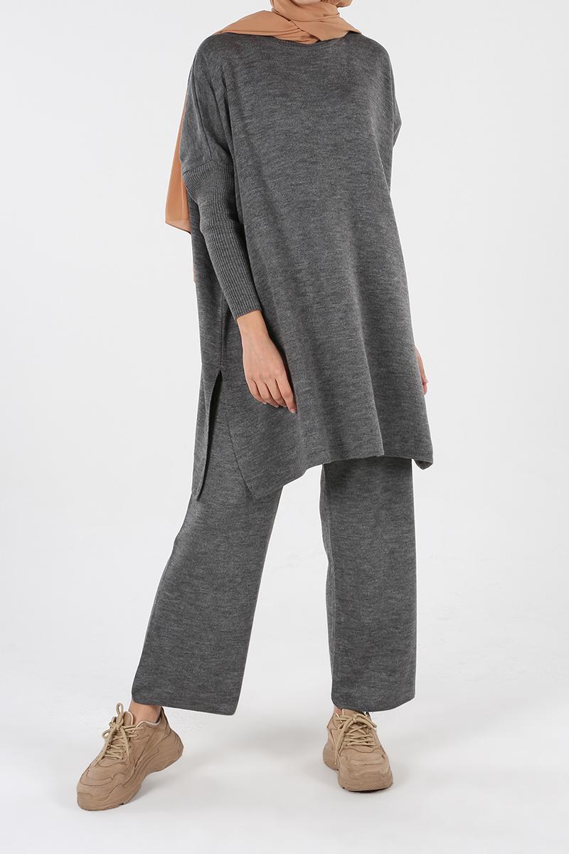 Pantolonlu İkili Salaş Triko Takım