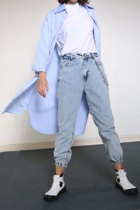 Yarece Patlı Uzun Gömlek Tunik