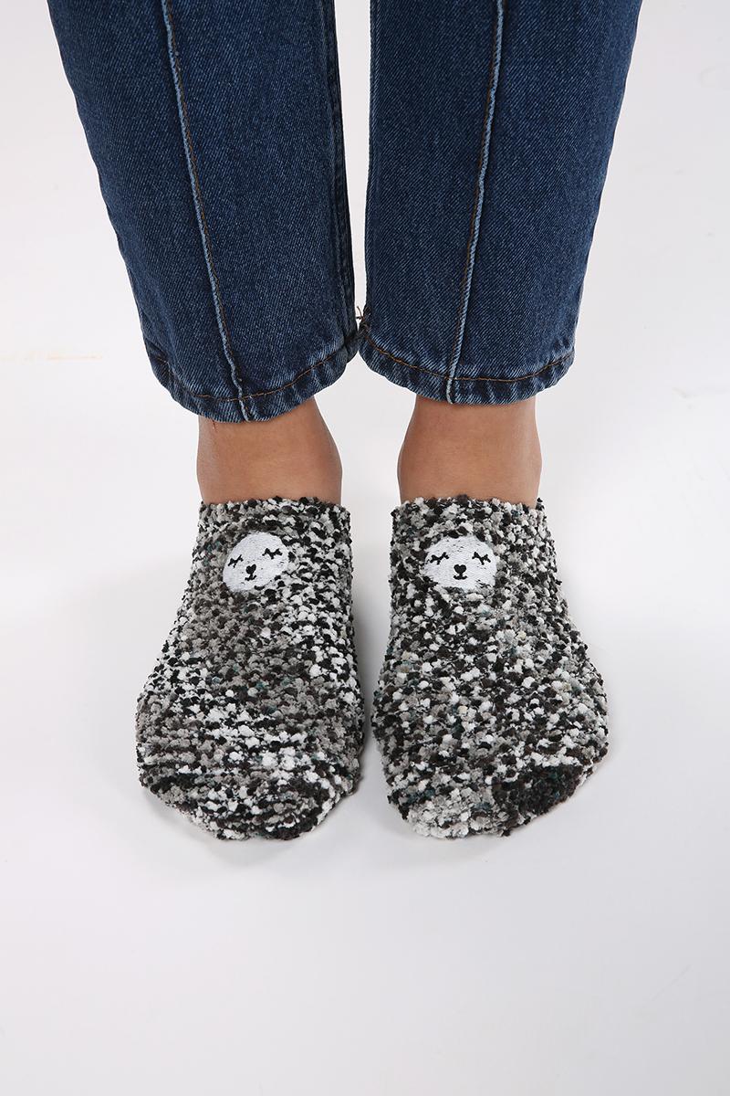 Ponponlu Patik Çorap