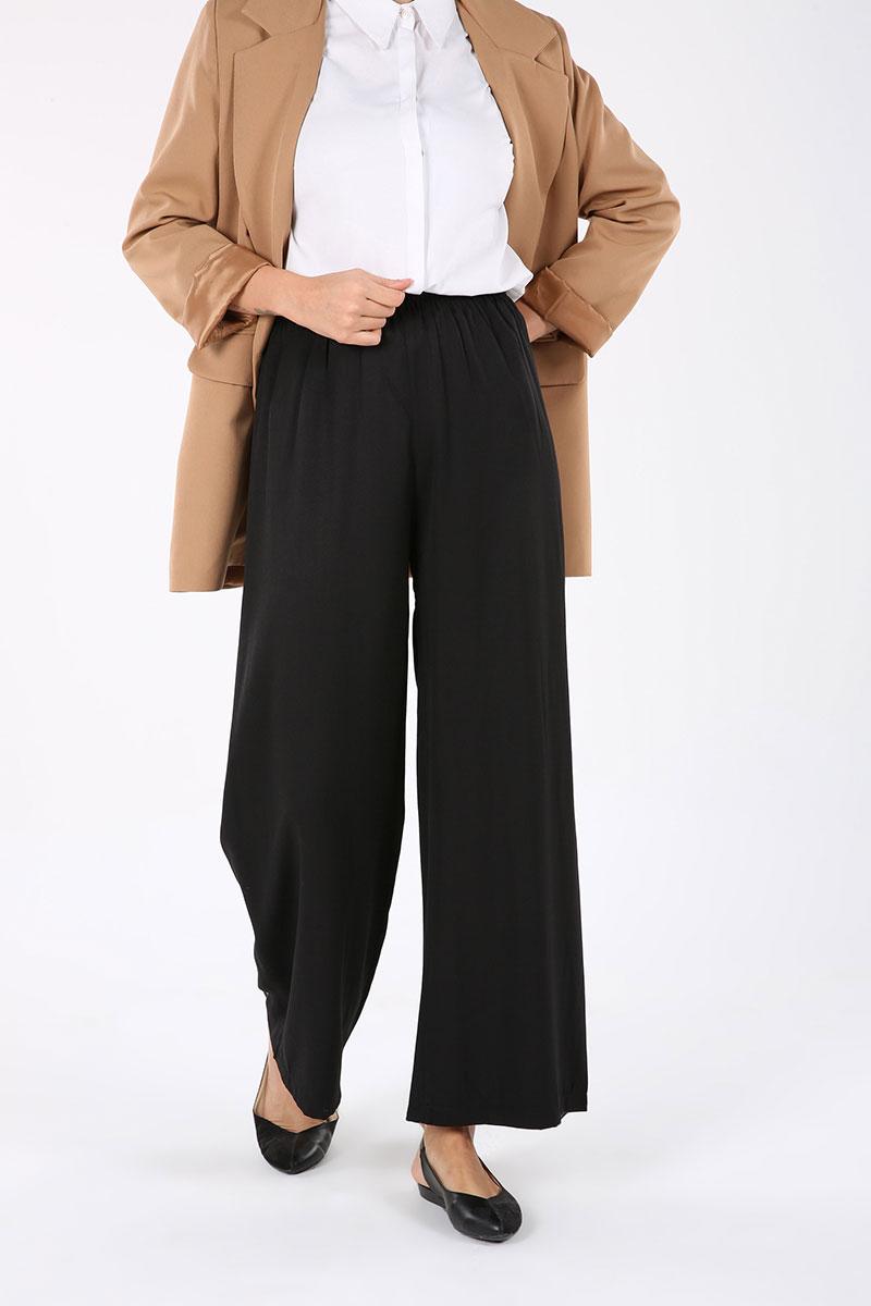 Lastikli Yüksek Bel Bol Pantolon